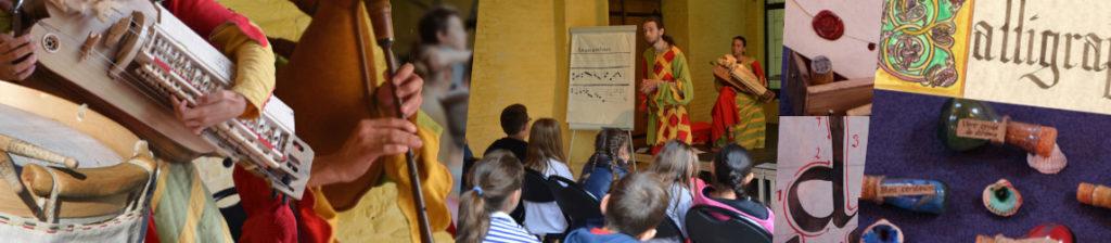 bannière pédagogie Vagarem musique médiévale
