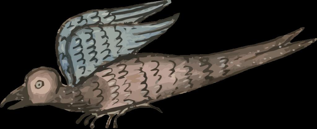 Enluminure oiseau