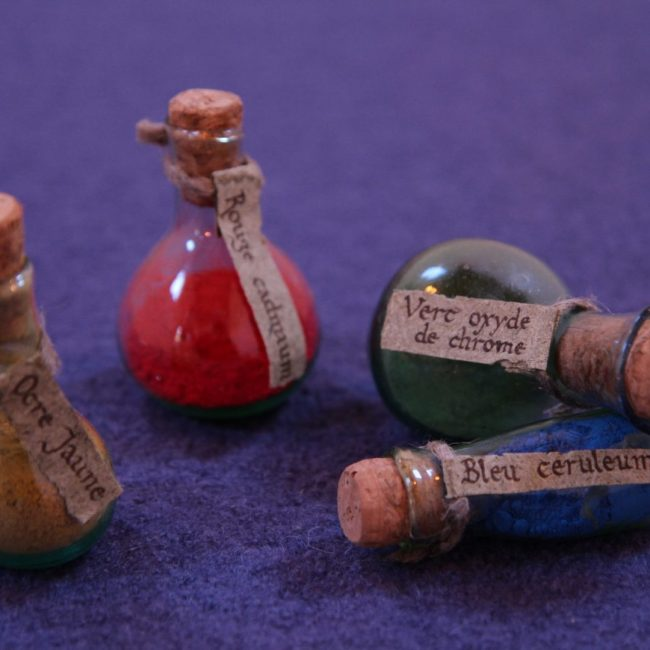 pigments médiévales enluminure